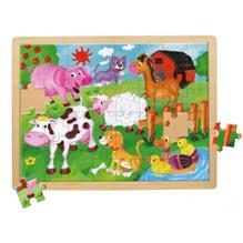 Puzzle Animale De La Ferma 48 Piese Mertens - Bino-Mertens