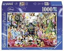 Puzzle Craciunul In Familia Disney 1000 Piese