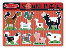 Puzzle De Lemn Cu Sunete Animale De La Ferma Melissa And Doug