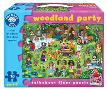 Puzzle De Podea Petrecerea Din Padure (70 Piese) Woodland Party Jigsaw