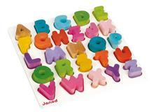 Puzzle Din Lemn - Alfabet - Janod (J05566)