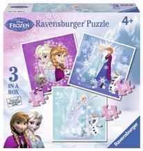 Puzzle Frozen 3 Buc In Cutie 25/36/49 Piese