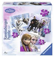 Puzzle Frozen Anna Elsa Si Prietenii 25/36/49P