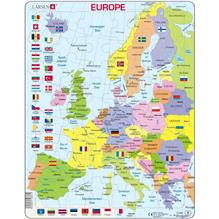 Puzzle Harta Politica A Europei (En) 48 Piese Larsen