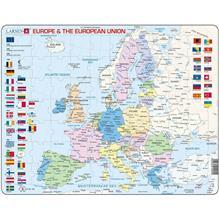 Puzzle Harta Politica A Europei (En) 70 Piese Larsen