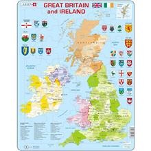 Puzzle Harta Politica A Marii Britanii Si A Irlandei (En) 48 Piese Larsen