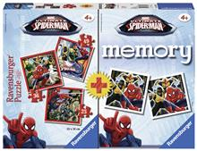 Puzzle + Joc Memory Spiderman 3 Buc In Cutie 25/36/49 Piese