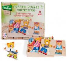 Puzzle Lemn Ursulet Cu Hainute