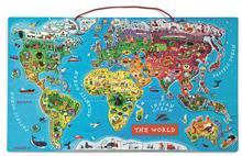 Puzzle Magnetic Harta Lumii (Lb. Engleza) - Janod (J05504)