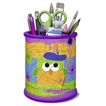 Puzzle Ravensburger Pencil Cup Owl Girly Girl Edition 3D 54 Pcs
