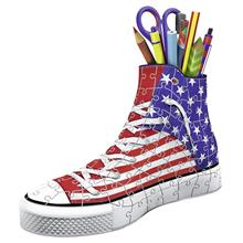 Puzzle Ravensburger Sneaker American Flag Pen Holder 108 Piece 3D