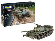Revell Model Vehicul Militar - Tanc T-55A/Am With Kmt-6/Emt-5