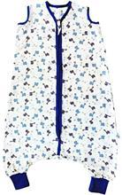 Sac De Dormit Cu Picioruse Bamboo Blue Dinosaurs 2-3 Ani 0.5 Tog