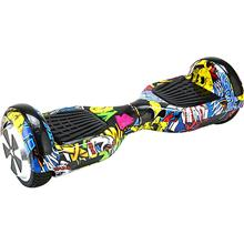 Scooter Electric Myria My7012yg Junior 6.5 Inch Graffiti Galben + Geanta Transport Inclusa