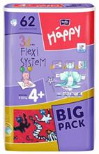 Scutece Happy 4 Plus Maxi Plus (9-20 Kg) 62 Buc