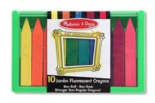 Set 10 Creioane Colorate Groase Trunghiulare In Culori Fluorescente Melissa And Doug