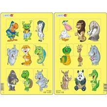 Set 2 Puzzle-Uri Animale 9 Piese Larsen