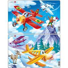 Set 2 Puzzle-Uri Avioane 13 Piese Larsen