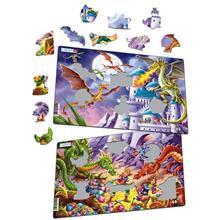 Set 2 Puzzle-Uri Dragoni 28 Piese Larsen
