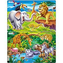 Set 2 Puzzle-Uri Safari 14 Piese Larsen