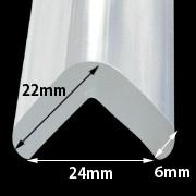 Set 2Buc Protector Colturi Forma L / Gros 285 Transparent Banda Adeziva Inclusa imagine