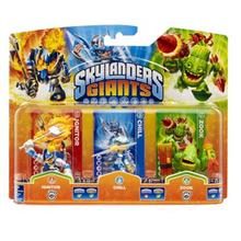 Set 3 Figurine Skylanders Giants Chill Zook Ignitor