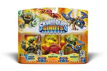 Set 3 Figurine Skylanders Giants Prism Break Eruptor Drobot