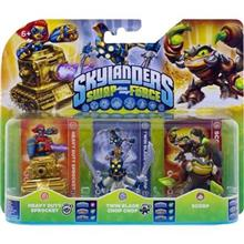 Set 3 Figurine Skylanders Swap Force Heavy Duty Sprocket Twin Blade Chop Chop Scorp