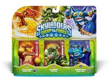 Set 3 Figurine Skylanders Swap Force Lava Barf  Slobber Tooth  Super Gulp Pop Fizz