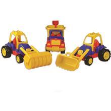Set 3 Utilaje Constructie Autobasculanta Buldozer Si Tractor Compactor Ucar Toys Uc13