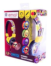 Set Casti Audio Personalizabile Emoji Flip And Switch Galben