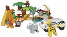 Set Constructie Cuburi Unico Safari Mari 55 Piese imagine