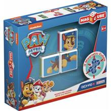 Set Constructie Magnetic Magicube Paw Patrol Chase Skye Si Rocky