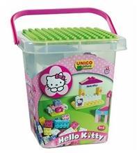 Set Constructie Unico Plus Hello Kitty Galetusa Cu Placa De Montat 104 Piese