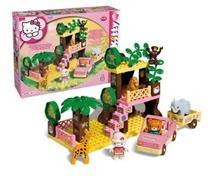 Set Constructie Unico Plus Hello Kitty Safari