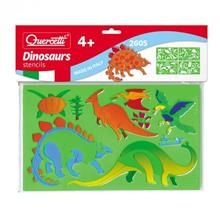 Set Creativ Pentru Copii Sabloane Dinosauri Quercetti imagine