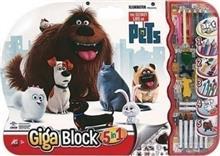 Set De Colorat As The Secret Life Of Pets Giga Block Painting Set 5 In 1