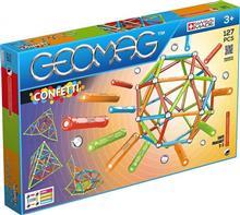 Set De Construit Geomag Confetti 127 Pcs Red Green Orange & Blue