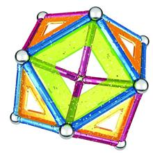Set De Construit Geomag Glitter Panels 44Pcs