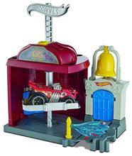 Set De Jucarii Hot Wheels City Downtown Fire Station Spinout Play Set imagine