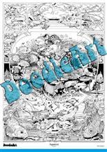 Set Postere De Colorat + 12 Markere Duble - Acvariu