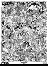 Set Postere De Colorat + 12 Markere Duble - Pirati