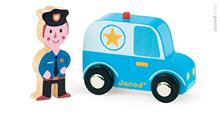 Set Povestea Mea - Orasul - Masina De Politie &Amp; Politist - Janod (J08564)