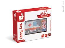 Set Povestea Mea - Pompieri - Ambulanta &Amp; Medic - Janod (J08567)