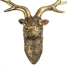 Stag Deer Head Wall Sculpture M&W Gold imagine