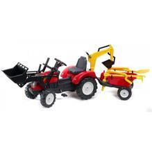 Tractor Ranch Rosu Cu Cupa Remorca Si Excavator
