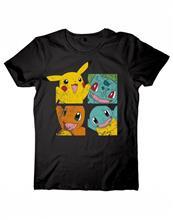 Tricou Pokemon Pikachu Friends Negru Marimea L