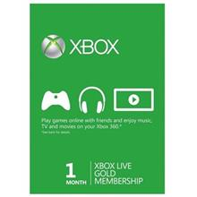 Xbox 360 Live Gold Card 1 Month Membership Card